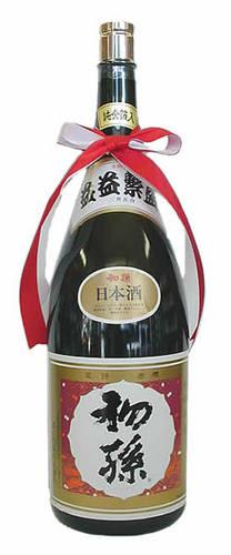 初孫(はつまご) 金粉入り 本醸造 益益繁盛(ますますはんじょう)