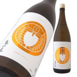 松嶺の富士 家紋ラベル 純米 亀の尾70 火入れ原酒